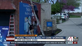 #WeSeeYouKSHB: Mural honors health care workers