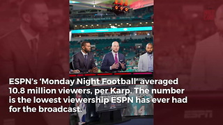 'Monday Night Football' Hits Record Low For ESPN - Video