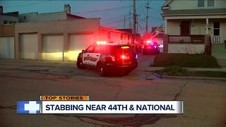 Stabbing investigation in West Milwaukee - Video