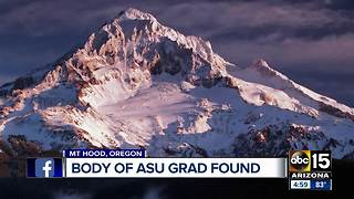 Missing ASU student's body found on Mt. Hood