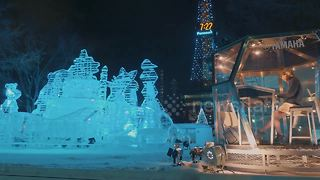Stunning Japanese snow festival draws to a close - Video