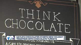 Gayle's Chocolates starts new holiday tradition with chocolate turkeys - Video