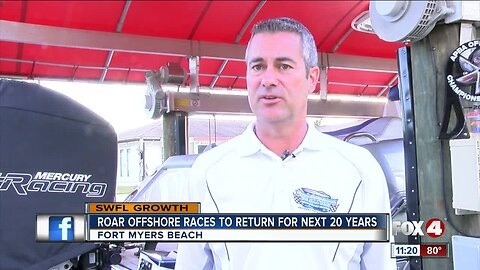 Roar Offshore signs 20 year contract with Fort Myers Beach