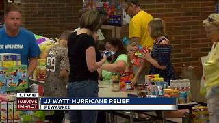 J.J. Watt: Donations in Pewaukee have 'just been phenomenal' - Video