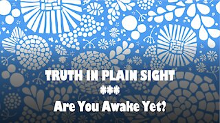 Truth in Plain Sight: Are You Awake Yet?