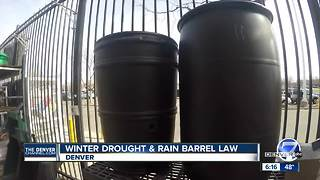 Winter drought and rain barrel law - Video
