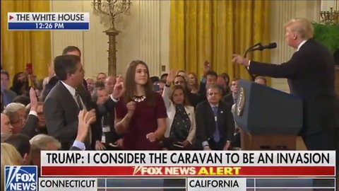 Slow-Mo Video Catches Angry Acosta Shoving Woman at White House