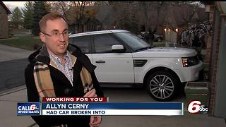 Car break-in victim upset that police never got back to him - Video