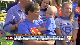 Family of Brody Allen thanks public for support