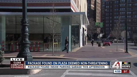 All clear given in Plaza suspicious package