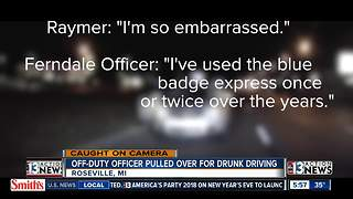 Drunk police officer caught on camera