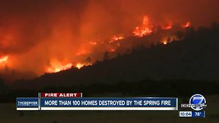 104 homes destroyed in Spring Fire burning in Costilla County in southern Colorado - Video