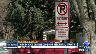 Parking woes overflow from Lakewood High School lot to surrounding neighborhood - Video