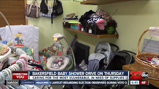 Bakersfield Baby Shower drive on Thursday