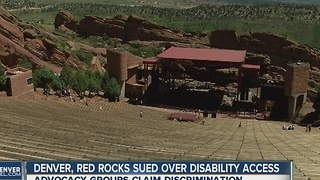 Denver, Red Rocks sued over disability access - Video