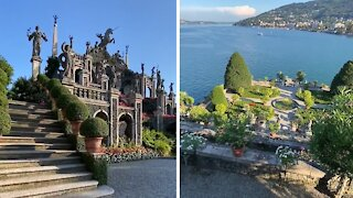 Mesmerizing footage of the Isola Bella Gardens in Italy