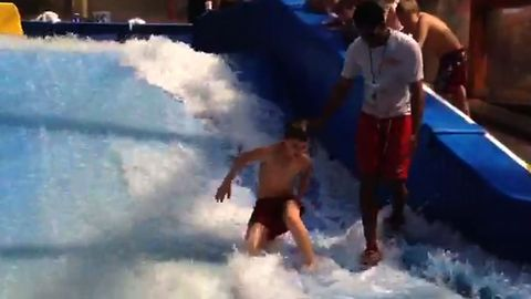 Kid Can Catch A Wave But Not A Break
