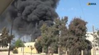 Smoke Rises From Town in Afrin as Strikes Reported - Video