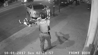 Surveillance video of officer-involved shooting in Akron in 2017