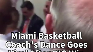 Miami Basketball Coach's Dance Goes Viral After BIG Win - Video