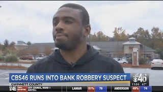 Bank Robber Captured After He Stopped To Give Interview On Traffic - Video