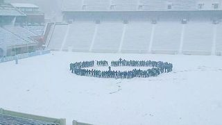 UNC Students Sing School Song in Snow - Video