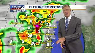 Steamy Friday with highs in the 90s - Video