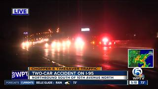 Crash closes lanes on I-95 northbound in Lake Worth - Video