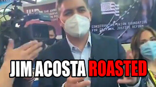 Jim Acosta ROASTED at CPAC for NOT Covering Andrew Cuomo Scandals