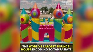 The world's largest bounce house is coming to Tampa Bay | Taste and See Tampa Bay