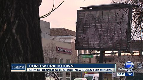 Those signs are serious! Denver really does have a youth curfew
