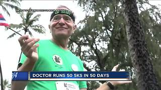Doctor runs across country to raise awareness for mental health issues