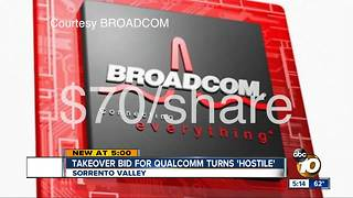 Takeover bid for Qualcomm turns 'hostile' - Video