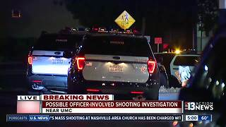 Officer involved shooting at UMC - Video