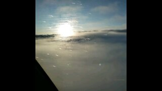 Flying Over Cloudtops in a Boeing 777