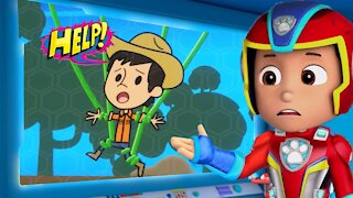 PAW Patrol Mighty Pups Save Adventure Bay - Chase, Skye Rescue Carlo Heroic Mission
