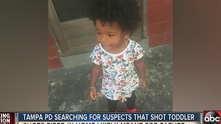 Tampa PD searching for suspects that shot toddler - Video