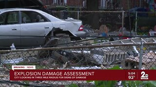 Baltimore City surveying damage caused by major gas explosion in Northwest Baltimore