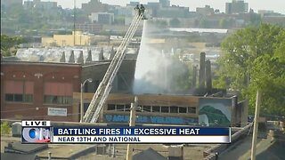 Firefighters battle Milwaukee fire and the heat