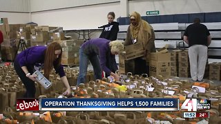 Operation Thanksgiving helps 1,500 families - Video