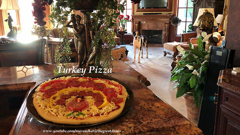 Great Danes Get Ready For The Holidays With Turkey Pizza