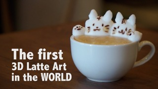 Creative 3D Latte Artist Makes Coffee Tell Beautiful Stories  - Video