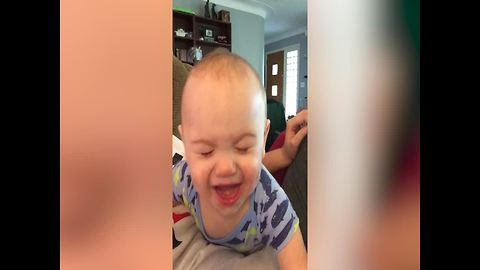 Baby Pretends To Cry But His Mom Knows He Is Deceitful