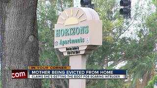 Fort Myers mom says she's being evicted for protecting herself - Video