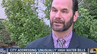 City addressing high water bill glitch - Video