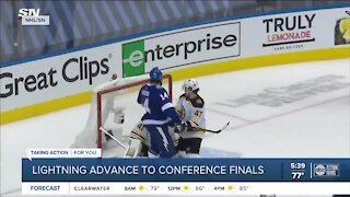 Tampa Bay Lightning close series against Bruins to advance to Eastern Conference Finals