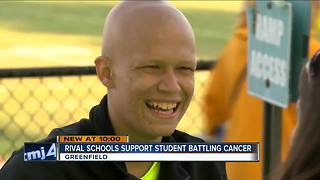 Greenfield-Greendale game dedicated to cheerleader with bone cancer - Video