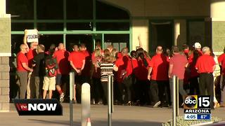 Arizona teachers stage walk-ins as part of