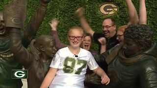 10-year-old's drive to help classmates earns her Kick-Off Kid honor - Video