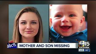 Mesa PD are searching for a missing woman and her son - Video